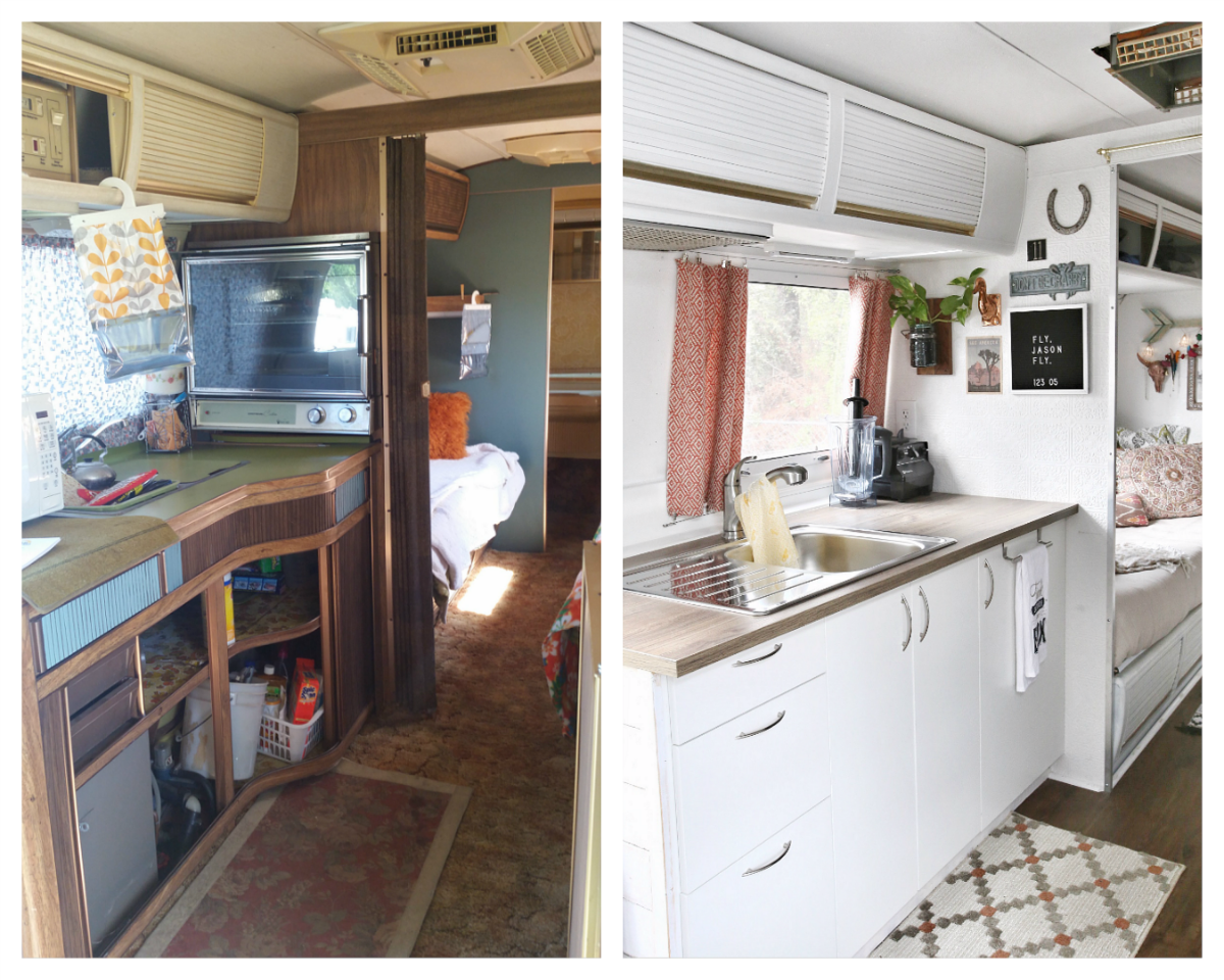 Airstream Kitchen Remodel Before After Mavis The Airstream