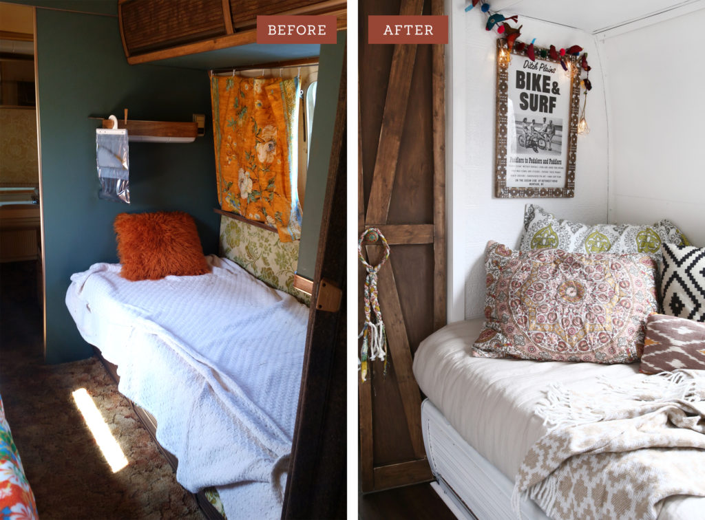 Airstream Twin Bedroom Remodel Part 1 Before After