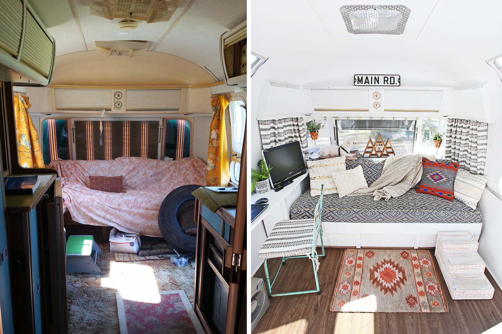 Airstream Living Area Remodel Part 1 Before After